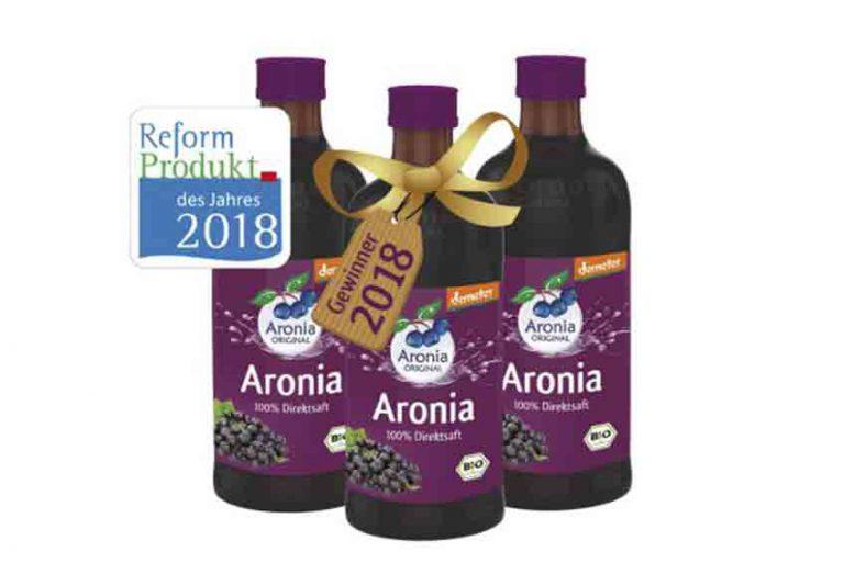 Demeter-Aronia-Direktsaft 0,35 l ist Reformprodukt 2018! Wir gratulieren.